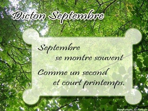 Les Dictons du mois de SEPTEMBRE !