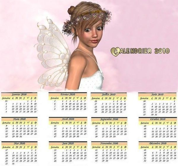 Calendriers 2010 !!!