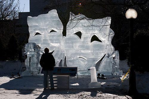 Sculture de glace.